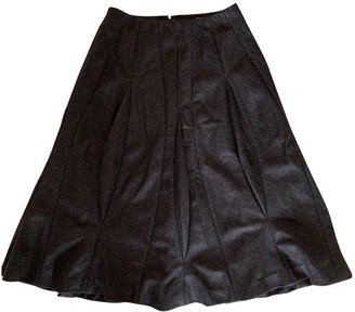 Saint Laurent Grey Wool Skirt for Women Vintage