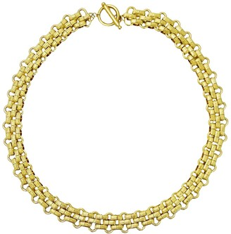 Savvy Cie 18K Gold Plated Panther Link Toggle Necklace