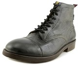 H By Hudson Cruise Men Round Toe Leather Black Chukka Boot.