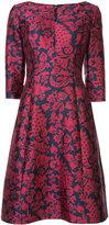 Oscar de la Renta floral print dress - women - Silk/Cotton/Polyester/Nylon - 4