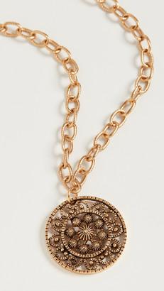 Kenneth Jay Lane Adjustable Antique Gold Necklace