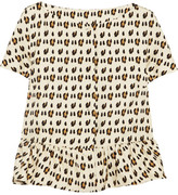 Giambattista Valli Leopard-print silk-shantung peplum jacket