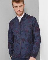 Ted Baker Linen and cottonblend floral bomber jacket