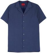 Hugo Endo Navy Printed Cotton Shirt