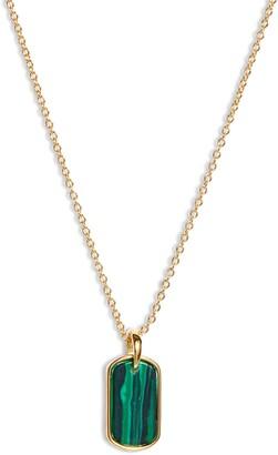 Gorjana Griffin Stone Dog Tag Necklace