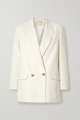 Vanessa Bruno Joe Double-breasted Cotton-blend Blazer - Cream