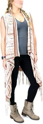 Miss Me Women's Sweater Fringe Vest