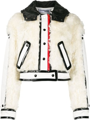Courreges combined cropped jacket