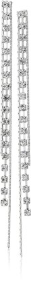 "GUESS Basic"" Silver Crystal Rhinestone Linear Drop Earrings"