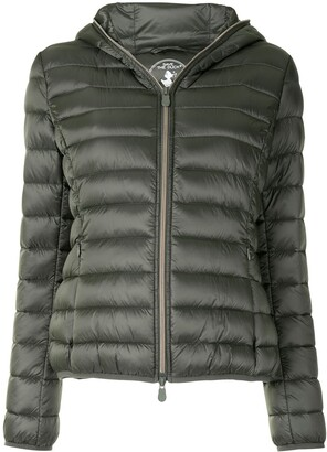 Save The Duck Light Hooded Quilted Jacket