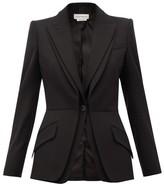 Alexander McQueen Single-breasted Grain-de-poudre Wool Jacket - Womens - Black