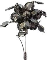 Bottega Veneta Oxidized Sterling Silver Flower Stick Pin Brooch