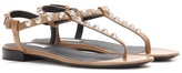 Balenciaga Arena Giant Stud Leather Sandals