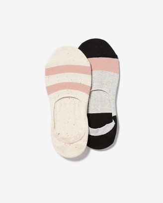 Express 2 Pack Color Block No-Show Ankle Socks