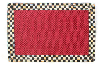 Mackenzie Childs Courtly Check Red Sisal Rug 2' x 3'