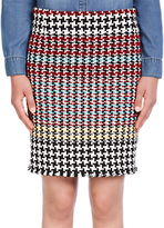 Oui Tweed Skirt, Multi