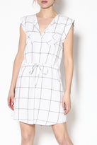 BB Dakota Plaid Drawstring Dress