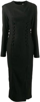 MATÉRIEL fitted button detail dress