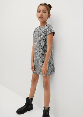 MANGO Printed shift dress