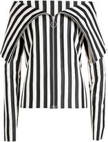 Marques Almeida Marques' Almeida Striped Top with Zipped Front