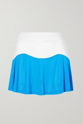 L'etoile Sport Performance Team Mesh-paneled Stretch-jersey Tennis Skirt