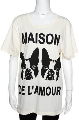 Gucci Buttercream Cotton Maison De L'amour Sequined T-Shirt XS