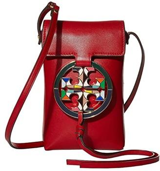 Tory Burch Miller Stained Glass Phone Crossbody (Red Apple) Cross Body Handbags