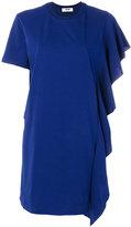 MSGM ruffle trim T-shirt dress