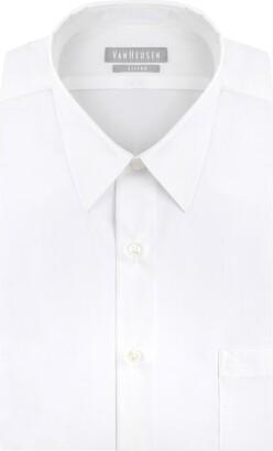 Van Heusen Long Sleeve Fitted Dress Shirt Grey Stone 15 Nk 32-33 Sl
