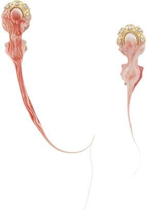 Ottolinger Pearl Red Drop Earrings