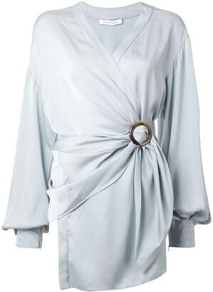 Rachel Gilbert Karo wrap-style blouse