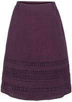 Fat Face Monica Lace Skirt, Aubergine