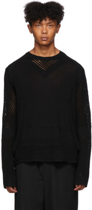 Craig Green Black Crochet Knit Sweater