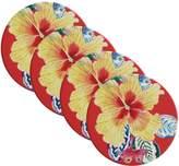 Maxwell & Williams Exotica Ceramic Hibiscus Coaster (Set of 4)