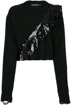Filles a papa cropped jumper with sequinned frill