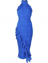 Saloni ruffled fitted dress