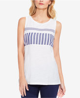 Vince Camuto Cotton Striped Tank Top