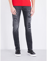 Alexander Mcqueen Distressed Slim-fit Skinny Jeans