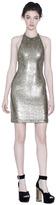 Alice + Olivia Marnie Embellished Fitted Halter Dress