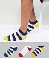 Pringle Sneaker Socks 3 Pack Stripe