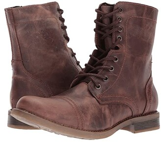 Steve Madden Troopah-C (Brown) Men's Lace-up Boots