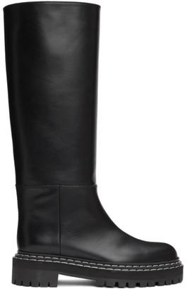 Proenza Schouler Black Lug Sole Mid-Calf Boots