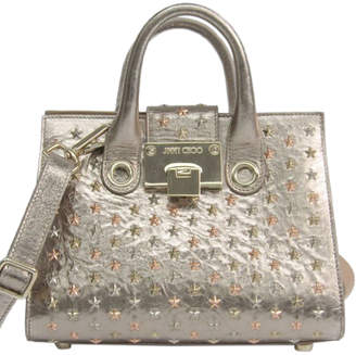 Jimmy Choo Champagne Gold Leather Star Studded Small Riley Bag