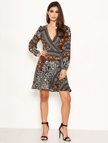 AX Paris Petite Zebra Multi Print Wrap Dress