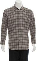 Hermes Plaid Button-Up Shirt