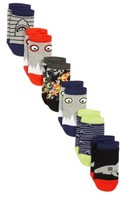 Tucker + Tate Boy's Shark 6-Pack Lowcut Socks