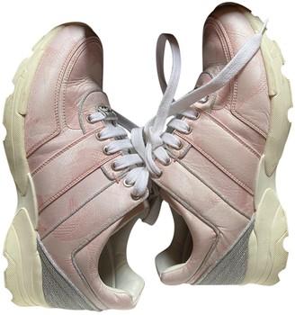 Chanel Pink Velvet Trainers