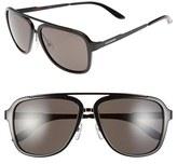 Carrera Men's Eyewear 57Mm Navigator Sunglasses - Dark Blue/ Blue Infrared