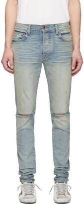 Amiri Indigo Slash Jeans