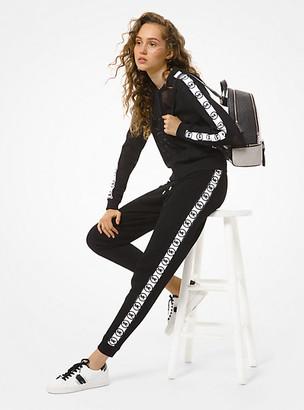 MICHAEL Michael Kors MK Logo Tape Mesh Track Jacket - Black - Michael Kors